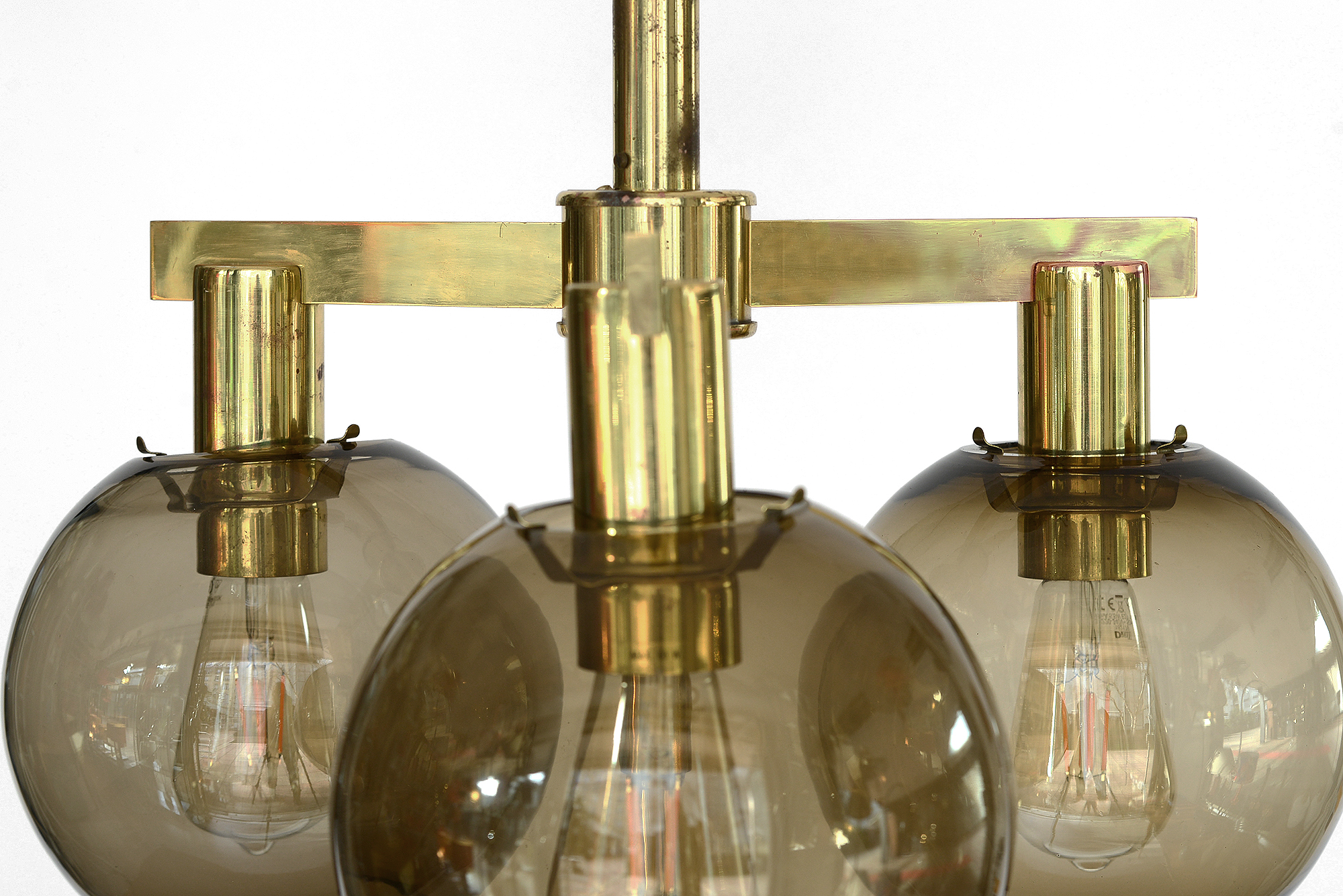 Amazing chandelier with seven pendants probably Hans Agne Jakobsson Markaryd