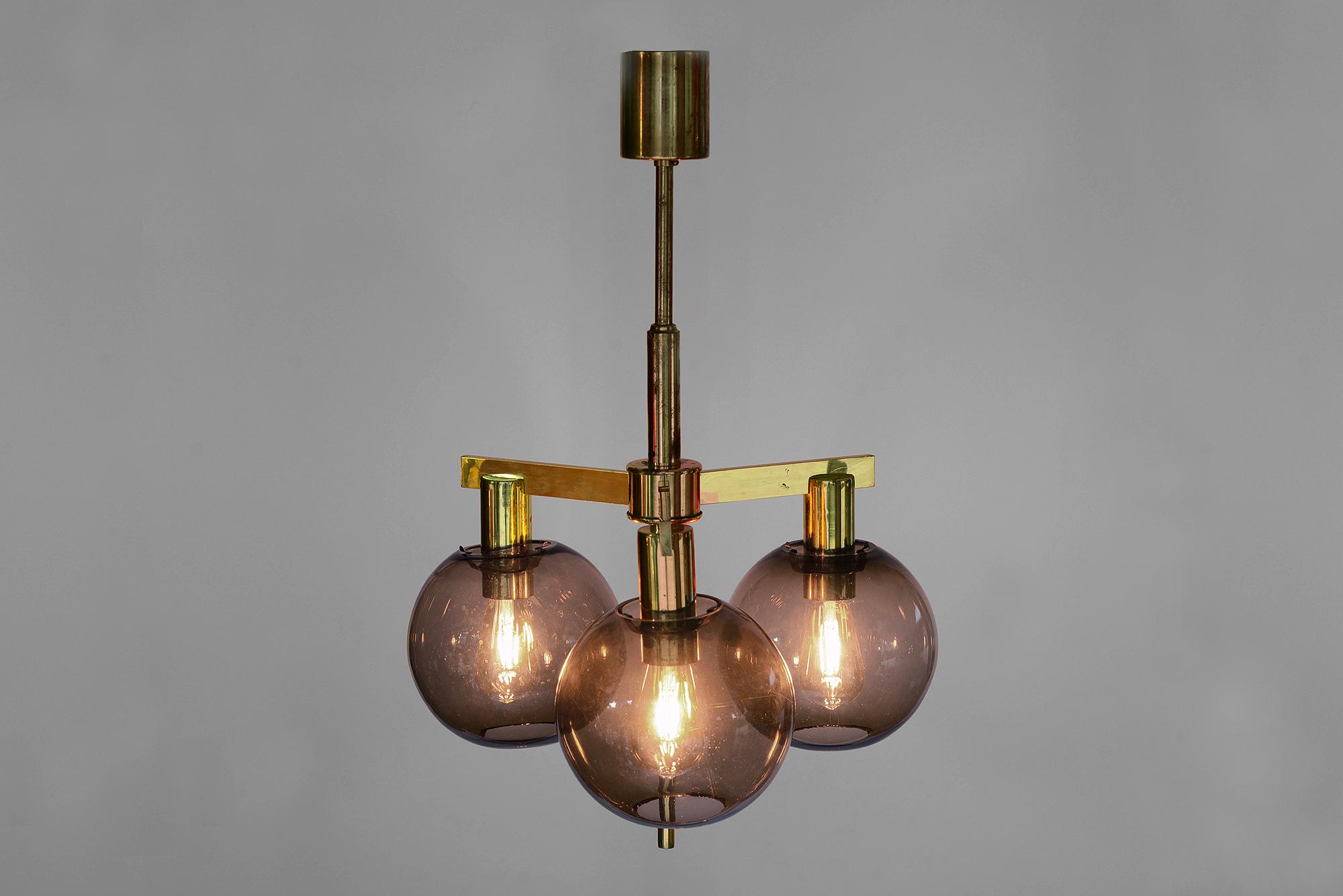 Brass chandelier T3483